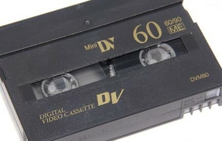 Picture of a Mini DV Tape